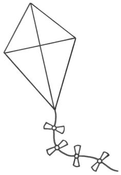 Kite coloring page Visual Closure Pinterest Kites School