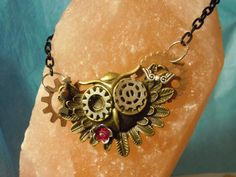 Steampunk Owl Necklace. $16.99, via Etsy.