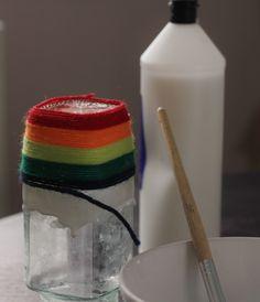 Yarn Covered Vase Or Desk Tidy - Kids Craft Room
