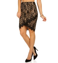 Black Lace Love Skirt at WindsorStore