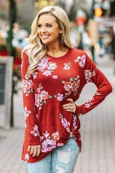 Casual Dresses, Casual Outfits, Cute Outfits, Floral Tops, Floral Shirts, Fall Outfits, Fashion Outfits, Work Outfits, Womens Fashion