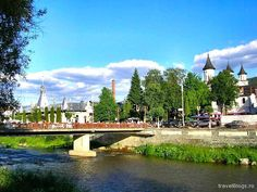Hungarian: Beszterce) is the capital City of Bistrita-Nasaud County , Transylvania, Ro. Central Europe, Capital City, Romania, Past, Places To Visit, Mansions, House Styles, Travel, Postcards