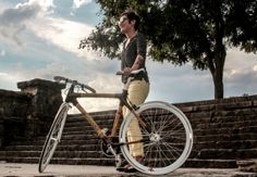 Hand built single speed bamboo bike by GrassyBikes on Etsy, $2399.00