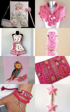 Sweet Pink  by AccessoryDukkan on Etsy--Pinned with TreasuryPin.com