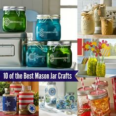 Looking to craft with that stash of mason jars? Check out these 10 mason jar crafts . . . they are some of the best ideas ever!