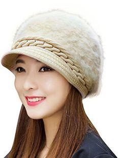 a7b24f65b2ee2b HindaWi Fluffy Knit Hat Crochet Winter Snow Cap Caps Hats, Womens Fashion,  Fashion 2015