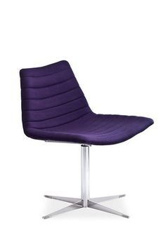 The stylish channel-upholstered Shell Chair by Midj, here in purple wool.
