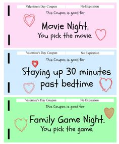 valentine's day coupon book for parents