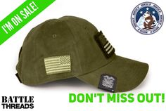 3/15/17 - Our Olive Drab Mountain Up hats are INCLUDED in our Green apparel sale! Enjoy 15% with code: GREEN15  www.battle-threads.com