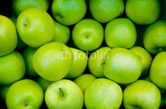 Grüne Äpfel, Obst, Angebot, Marktstand