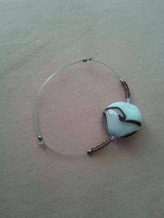 Bracelet perle en verre + cable