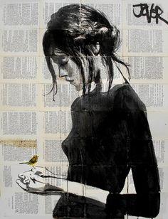 "Saatchi+Online+Artist+Loui+Jover;+Drawing,+""peace""+#art"