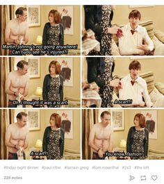 """When Johnny broke his arm. 25 Times """"Friday Night Dinner"""" Was Bloody Hilarious British Sitcoms, British Memes, British Comedy, British Humour, Family Movie Night, Family Movies, Dinner Quotes, Gavin And Stacey, Friday Night Dinners"""
