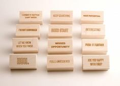 Teacher stamps, from supportive to sarcastic. Love these!