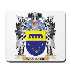 Westphal Coat of Arms - Family Crest Mousepad on CafePress.com