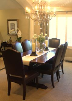 inspired hydrangea centerpieces in dining room transitional with rh pinterest com Modern Dining Table Centerpieces Dining Table Decorating Ideas