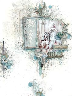 I found the Scrap Magic Challenge so very inspiring. First was the challenge of using two contrasting elements: Lace ...