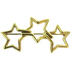Pre-owned Vintage Tiffany & Co (sign) Pin Brooch Stars 1986 (61.845 RUB) ❤ liked on Polyvore featuring jewelry, brooches, accessories, gold, vintage brooches, pre owned jewelry, vintage gold jewelry, pin jewelry and vintage star jewelry