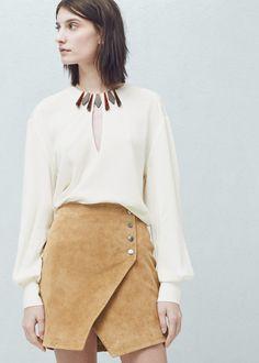 Bluză aplicații guler -  Femei | MANGO