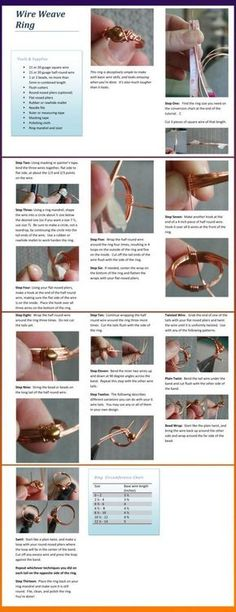 Wire Weave RingFree Diy Jewelry Projects | Learn how to make jewelry - beads.us