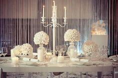 white wedding table decoration  hochzeitstisch deko, weiß