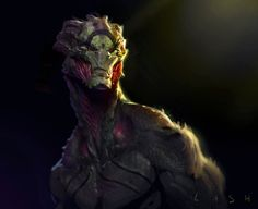 Just fucking around with some paint over on a model I did in zbrush. Trying just to relax art-wise these days and enjoy it and have fun. Trying to learn a new skill which is Zbrush, see if I can in. Alien Concept Art, Creature Concept Art, Creature Design, Alien Creatures, Fantasy Creatures, Mythical Creatures, Design Alien, Relaxing Art, Alien Races
