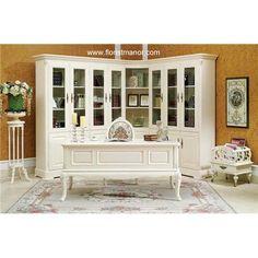 Elizabeth's Perfect Office.    White Bookcase Furniture Bookshelf Wood