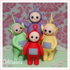 Teletubbies cake topper figurines