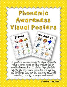 phonemic awareness visual posters... perfect for those trickier phonics sounds.  i keep mind in a binder and the students love to read it and reference it!