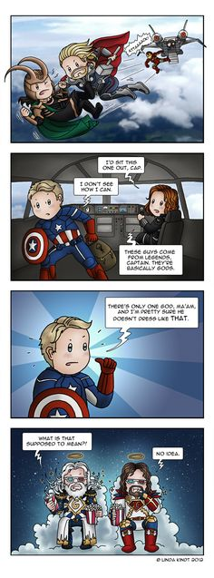 """The Avengers: Divine Fashion"" by *Isriana on deviantART Ya never know."
