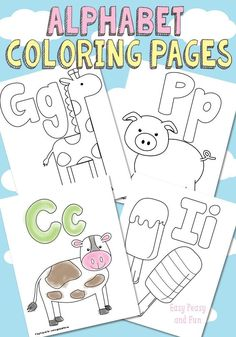 Free Printable Alphabet Coloring Pages - Preschool/Kindergarten Homeschool Preschool Letters, Preschool Printables, Learning Letters, Preschool Crafts, Free Alphabet Printables, Coloring Pages For Toddlers Printables, Abc Printable, Toddler Learning, Preschool Learning