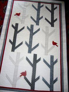 White Birches Quilt by freidasew, via Flickr