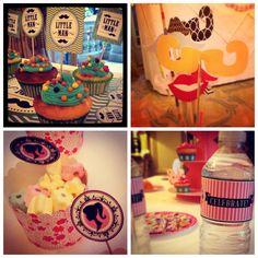 "cerise Ska glacé Glaçage Comestible Cake Topper 7,5 /"" 8 Cupcake Fairy Toppers"