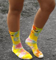 Cotton Candy Tie Dye Nike Crew Socks on Etsy, $14.00
