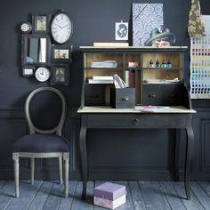 Scrivania secrétaire nera in legno L 102 cm Chenonceau   Maisons du Monde