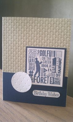 Birthday Golf Cards for Men Set of 5 by KLundquistDesigns on Etsy, $15.00