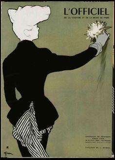 -L'officiel de la Mode, 1948. Illustration by Rene Gruau.