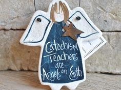 Catechism Teacher Gift Salt Dough Ornament