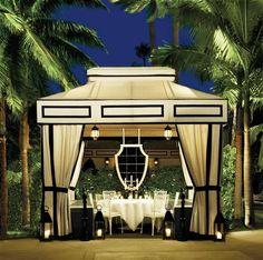 palm tree pavilion