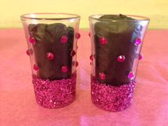 My DIY Mini Glasses with Glitter and Gemstones