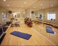 Definitely need mirrored walls and ballet bar in Shawn's workout room for Kora to dance