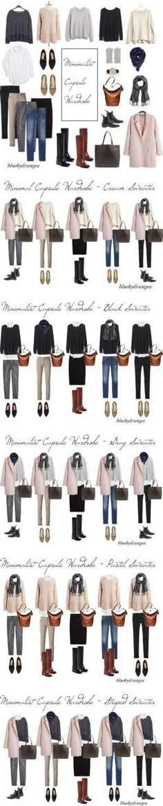 Minimalist Capsule Wardrobe - Winter 2015 by bluehydrangea on Polyvore featuring…