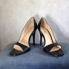 "Classic Black 4"" Stilettos Classic black stilettos.  Pair with shorts, a suit, or a prom dress - these work with anything!  Rouge sz 7.5  MEASUREMENTS  Length: 9.5"" Heel to Toe Width: 3.25"" Ball of Foot Heel height: 4.25""  #heels #highheels #classic #elegant #prom #summer #summershoes Shoes Heels"