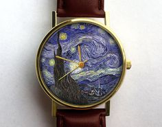 Van Gogh reloj reloj de la noche estrellada por 10northcreative