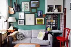 House Tour: A Comfy, Colorful Mix in 330 Square Feet | Apartment Therapy