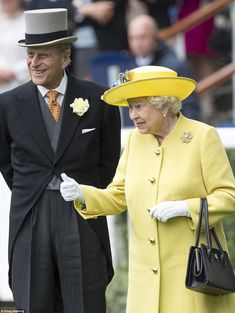 The Queen was in high spirits as she was joined by the Duke of Edinburgh and her grandson Prince Harry. 14 June 2016.