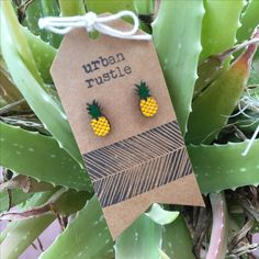 Your place to buy and sell all things handmade Rustic Jewelry, Wooden Jewelry, Leather Accessories, Leather Jewelry, Pen Pineapple Apple Pen, Thing 1, Bath Or Shower, Wooden Earrings, Fruit