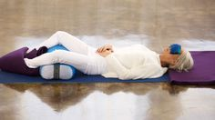 last pose to the 4 restorative yoga poses the soothe holiday stress.