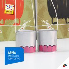 Crea divertidos zancos con tubos de PVC #Sodimac #Homecenter #juguetes #infantil #imaginación #kids #ManosAlaObra #ManitosAlaObra