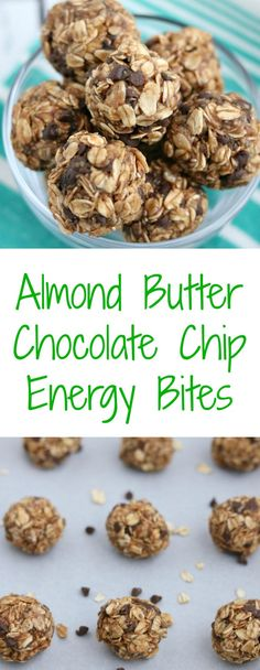 almond butter chocolate chip energy bites Source by ChocolateSlopes Healthy Brunch, Healthy Appetizers, Healthy Snacks, Breakfast Healthy, Protein Snacks, Healthy Breakfasts, Breakfast Time, Eating Healthy, Breakfast Recipes